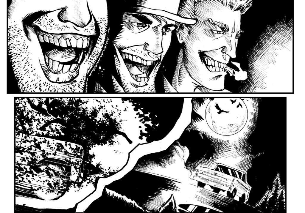 Hazzum productions, roadkill rampage, rodney fyke, tina mcelhinney, indie comics, horror comics, comic books,