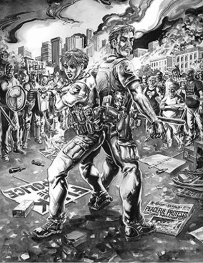 Michael a. Baron, mike baron, eisner award winner, indie comics, bloody red baron, comic books, thin blue line,